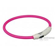 Lesă iluminată cu încărcător USB Trixie M-L 45cm/7mm, pink