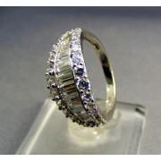 Zlatý prsteň biele zlato so zirkónom VP55333B
