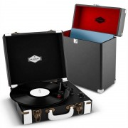 auna Jerry Lee Record Collector Set black Retro Plattenspieler Plattenkoffer