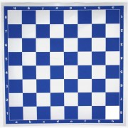 Tablero Profesional De Ajedrez: 45 X 45 Cm. Azul - Blanco
