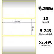 Etichette Zebra - Z-Ultimate 3000T White, formato 51 x 25