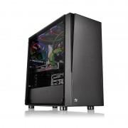 Carcasa Versa J21 Tempered Glass, MiddleTower, Fara sursa, Negru