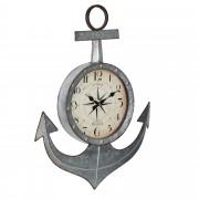 Стенен часовник [en.casa]® Котва - с аналогови стрелки - 47 x 6 x 62 см. -цветен - стъкло