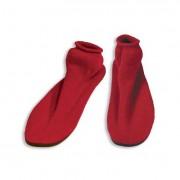 Dynarex Slipper Socks Small Non-slip Hard Sole Red Pair Part No.2170