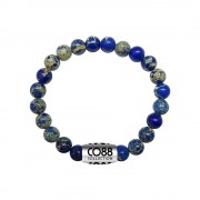CO88 Armband met logobead Sediment staal/blauw/geel, rek/all-size 8CB-17025