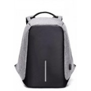 "KROSS ""KROSS"" ANTI THEFT / WATER RESISTANT LAPTOP BACKPACK WITH USB CONNECTOR Waterproof Backpack(Black, Grey, 13 L)"