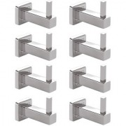 Doyours Stainless Steel Robe Hooks Glossy - 8 Pcs