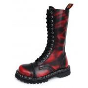 bőr csizma - KMM - Red/Black-140/2