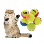 ELECTROPRIME Pet Dog Puppy Cat Tennis Ball Throw Fetch Outdoor Playing Toy Random Color