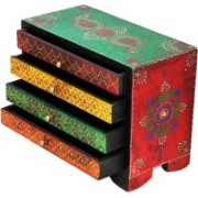 Shreeng Four drawer embossed wooden box