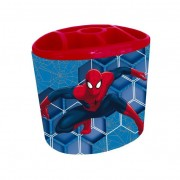 Spider man porta penne metallo con scomparti