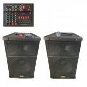Boxe Audio Active BT, Radio USB TF Mixer 2Mic, 12 Inch Vlliodor DS3012