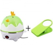 IBS Electric Egg Poacher Perfect for soft medium or hard boiled eggs steamer with Clipholder
