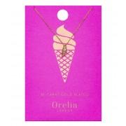 Orelia Kettingen Ice Cream Ditsy Necklace Goudkleurig