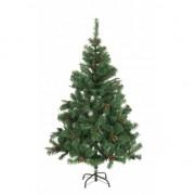 Merkloos Kunst kerstboom met dennenappels 180 cm