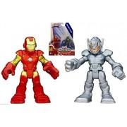Playskool Heroes Marvel Super Hero Adventures Iron Man & Ultron Figures NIP