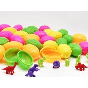 GIFTEXPRESS Lot of 144 Easter Eggs Filled with Dinosaurs/ Dinosaur Easter Eggs with Toys Inside/ Dinosaur Eggs that Hatch / Surprise Eggs Dinosaur