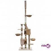 vidaXL Penjalica/ grebalica za mačke, plišana, bež, 230-260 cm