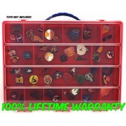 Disney Lapel Trading Pins Carrying Case - Stores Dozens Of Pins - Durable Pin Organizers By Life Made Better - Red