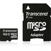 Card Transcend microSDHC 4GB Class 10 cu adaptor SD