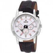 Gionee Analog Watch White Dail Black Stap For Men