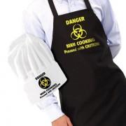 Iggi Danger: Man Cooking schort en koksmuts