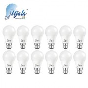 Ujala Led 7W High Beam Bulb - 120 Lumen/Watt B22 Base (Aluminium) PC Diffuser 2Year Warranty (Pack of 12)