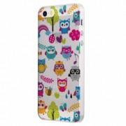Husa Silicon Transparent Slim owl Apple iPhone 5 5S SE