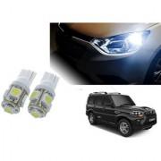 Auto Addict Car T10 5 SMD Headlight LED Bulb for Headlights Parking Light Number Plate Light Indicator Light For Mahindra New Scorpio