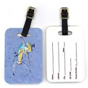 Caroline's Treasures 8350BT 4 x 2.75 in. Pair of Blue Marlin Luggage Tag(Multicolor)
