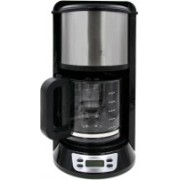 Shrih SH-03591 Aluminum 1000 Watt 12-Cup Programmable 12 cups Coffee Maker(Black)