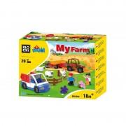 Joc constructie Blocki mubi, Ferma+camioneta, 29 piese