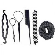 Gulzar Hair Accessory Combo Of Juda Bands / Comb / Braid Tools / Bun Maker For Girls And Women Bun Bun Clip Hair Acce