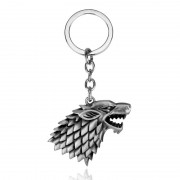 Breloc Game Of Thrones Wolf Lup Winter Is Coming Stark m1 Argintiu