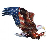 American Glory Shaped - Bald Eagle Shaped Flag Puzzle - 900 Pc Jigsaw Puzzle by SunsOut