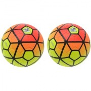 Ordem Pitch Orange/Yellow Football (Size-5) - Pack of 2 Footballs