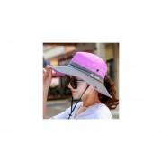 Deportes pesca verano malla de ala anchas de Sol paratranspirable de sol al aire libre protección Uv Tops de cubo Sombrero LANG(#2)