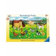 Puzzle Animale Pe Pajiste, 15 Piese Ravensburger