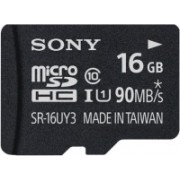 Sony SR-16UY3A/T1 16 GB MicroSD Card Class 10 90 MB/s Memory Card