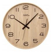 AMS 5522 Wandklok zendergestuurd hout 40 cm