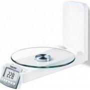 Cantar de bucătărie pentru perete KS52 Display LCD Alb