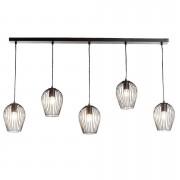 Hanglamp Lagos - mat zwart - 5 lampen - Leen Bakker