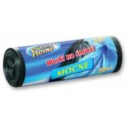 Saci menajeri HDPE 35 L, negru, 20 buc/rola Sweet Home