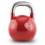 Compket 32 Kettlebell Bola de Peso 32 kg Aço Halterofilia Musculação Exercício Fitness Vermelho