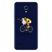 Husa silicon pentru Allview A5 Easy ET Riding Bike Funny Illustration