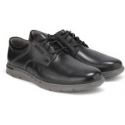 Clarks Unbyner Lane Black Leather Casual For Men(Black)