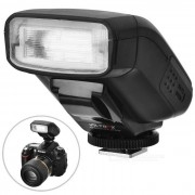 Viltrox JY610 Flash Speedlite universal para Canon / Nikon / Pentax DSLR + Mas - Negro (2 x AA)