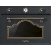 SMEG SF4750MAO beépíthető rusztikus mikrohullámú sütő - antracit / bronz