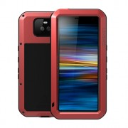 LOVE MEI Dust-proof Shock-proof Splash-proof Defender Phone Casing for Sony Xperia 10 - Red