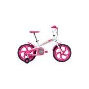 Bicicleta Caloi Ceci - Aro 16 - Freio Cantilever - Feminina - Infantil - BRANCO/ROSA Caloi